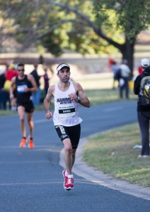 Brendan Davies in action at Canberra 50km ultra race