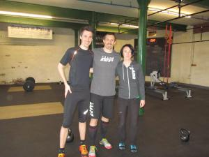 Myself, Stuart and Natalie at CrossFit West Yorkshire