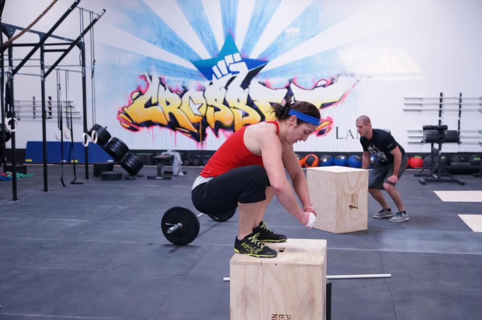 Stacey Kroon box jump