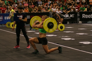 Nicola in action at the European CrossFit Regionals
