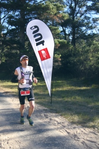 Brendan Davies on his way to victory - and a new course record - at the TNF 100km ultra marathon in May