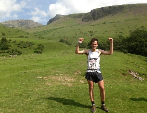 Ben celebrates a third win in four years at the gruelling 21-mile Wasdale race.
