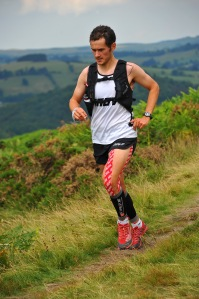 Ben on his way to victory at the Lakeland 50. Photo courtesy of www.sportsunday.co.uk