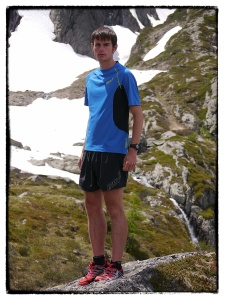 Robbie in our new apparel range and Roclite 243 shoes.