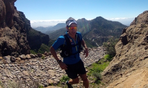 Eirik Haugsnes training on the Transgrancanaria course