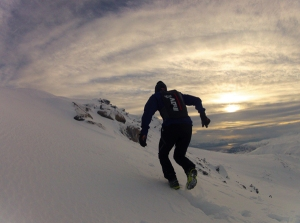 Eirik Haugsnes trains in the thick snow   back home in Norway