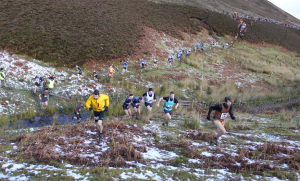 Start of Carnethy Five Hill Race. Orlando Edwards (right). Photo by Allan Gebbie / flickr