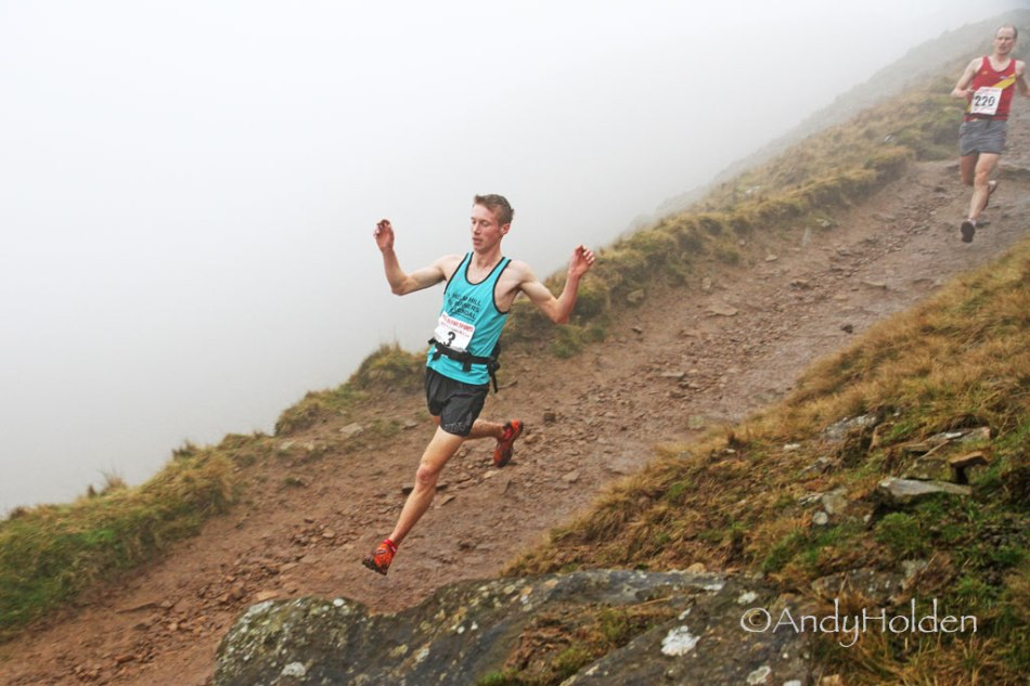 Tom Addison pushing hard at Pendle
