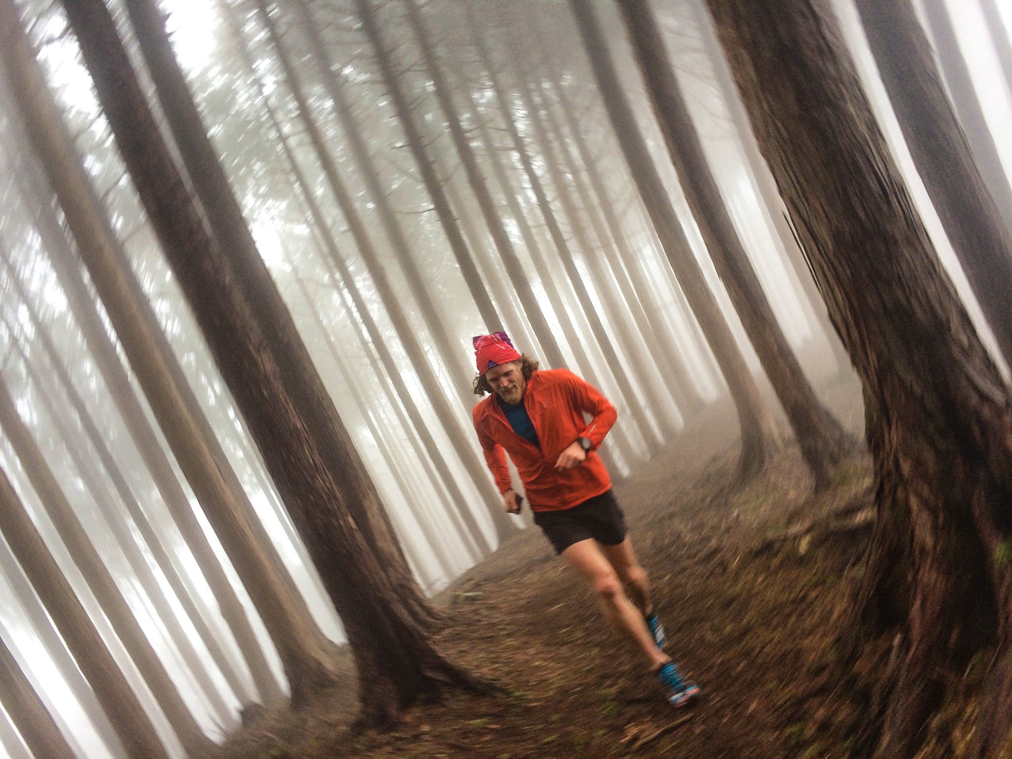 Joe warming up for UTMF - photo courtesy of Shinsuke Isomura