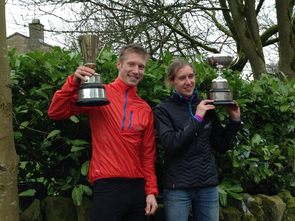 Pendle winners and inov-8 athletes, Tom Addison and Victoria Wilkinson